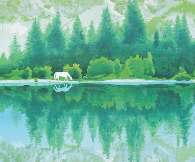 東山魁夷 湖澄む