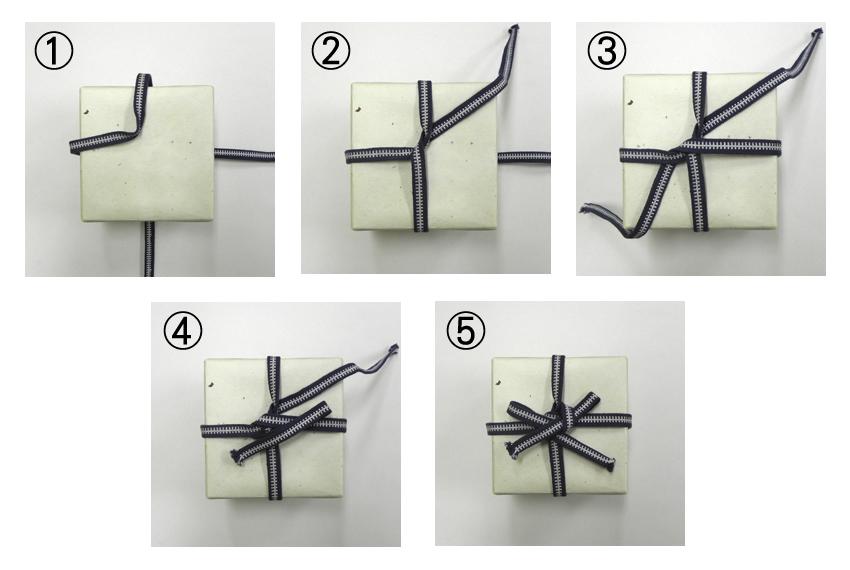 箱の紐の結び方A