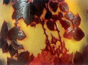 ガレの特殊技法「酸化腐蝕彫り」
