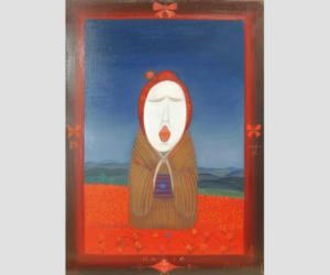 斎藤真一 瞽女の旅姿を哀愁的に表現した画家